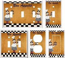 Light Switch Cover Plate ~ Fat Chef Bon Appetit Cooking kitchen design