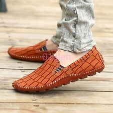 Mens Flat Loafers Slip on Leather Moccasins Gommino Boat Driving Shoes Comfort