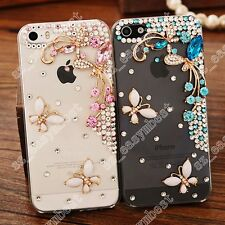 Butterfly Hard Back Bling Case Cover Bumper Diamond Luxury For Apple iPhone