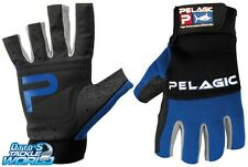 Pelagic Battle Gloves Blue - Half Finger (Pair) BRAND NEW at Otto's Tackle World