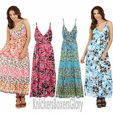 Ladies Floral Maxi/Summer/Beach Dress Size 8, 10, 12, 14, 16, 18, 20, 22 NEW