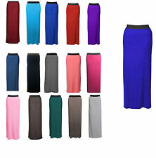 NEW WOMENS LADIES JERSEY LONG MAXI SKIRT GYPSY STRETCHY SKIRT SIZE 6-20 jrskt