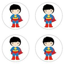 Superman - Little Super Hero Inspired Edible Cupcake Toppers Decoration
