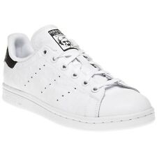 New Girls adidas White Stan Smith Leather Trainers Mono Lace Up