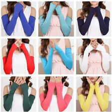 20 Colors Cosy Women Girl Arm Warmer cotton Long Fingerless Gloves Fashion New