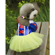 Dog Princess Snow White Fancy Dress Party Costume Disney Outfit XS-XL