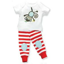 NWT Mud Pie Safari Monkey 2 Piece Play Set/ Sleepwear 12-18m, 2T/3T