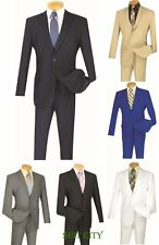 Men's Suit Single Breasted 2 Buttons 2 Piece Slim Fit Solid Colors S-2PP