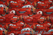 Cars Fabric By the Yard, Half, Fat Quarter Disney Lightning McQueen Fabric NEW