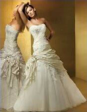 Stock ivory classic bride wedding dresses bride gown size  6 8 10 12 14 16