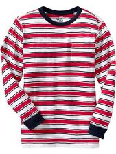 OLD NAVY LONG-SLEEVE STRIPED T-SHIRT  ( red / white / blue )