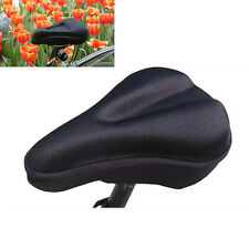 Bike Bicycle Cycle Extra Comfort Gel Pad Cushion Cover for Saddle Seat Black Fit
