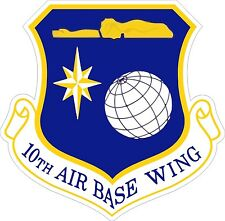 US Air Force USAF 10th Air Base Wing Decal / Sticker
