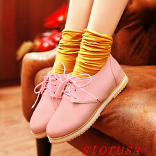 New Women Spring Flat Heel Shoes Lace Up Girls Ballet School Girls Casual Shoes
