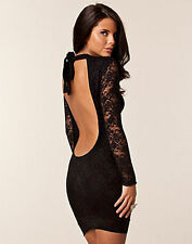 BNWT HONOR GOLD Lace New £55 Backless Halterneck Bodycon Party Club Prom Dress