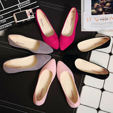 Womens-Boat-Shoes-Casual-Ballet-Slip-On-Flats-Loafers-New-Fashion-Single-Shoes