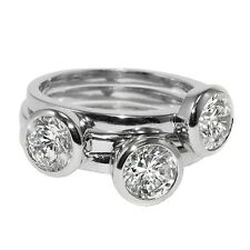 CZ-Casual Layered 3 Ring Bezel Set Stackable Style Cubic Zirconia Band Ring-HOT