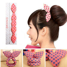 Fashion Magic Former Hair Styling Bun Maker Foam Sponge Curl Donut Twist Clips