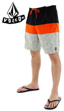 NEW VOLCOM boardshorts swim drawstring waist trunks RAZZY redorange black XL XXL
