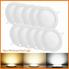 10 Pack Round 9W SMD LED Recessed Ceiling Panel Down Light Bulb Lamp W/ Driver
