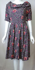 New Ladies Emily And Fin Floral Printed 1950s Doris Dress   - UK Size 10 - 12
