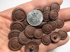 New lots of Metal Crown Crest Red Patina Buttons sizes 5/8 & 13/16  (AM3)