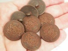 New lots  8 Metal Royal Crest distressed iron Buttons sizes 7/8 & 13/16  (AM)