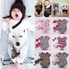 Newborn Infant Baby Girls Boys Romper Playsuits Headband Shoe Outfit Clothes Set