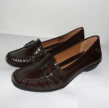 CLARKS ACTIVE AIR GILDED STONE BROWN  PATENT MOCASSINS UK SIZE 5,5.5,6,