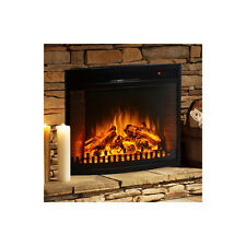 Curved Ventless Space Heater Built-In Recessed Firebox Electric Fireplace