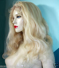 Remi Remy Full Lace Wig Wigs Indian Human Hair Light Blonde 60 Long Body Wave