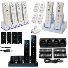 For Nintendo Wii Remote Rechargeable Battery Pack + Charging Dock Station Cradle