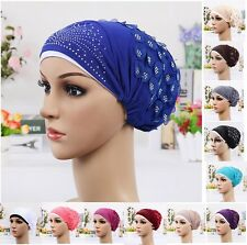 Fancy Women Cancer Bonnet Turban Chemo Hijab Hat Cap Inner Under scarf Treatment