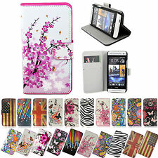 Leather Wallet Pouch Flip Phone Accessories Stand Case Cover For HTC One Mini M4