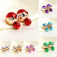 Fashion Pearl Earrings Candy Color Earring Ear Stud Jewlery Ball Beads Earrings