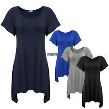 Womens Basic Plus Size Fitted O Neck Short Sleeve T Shirt Casual Solid M-2XL