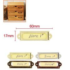 50x Drawer File Label Tag Frame Name Card Holder Shelf Library Office Display
