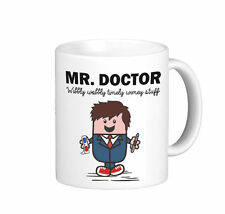 Mr Doctor (Mr.Men) Time Lord Tardis Dr Who Ceramic White Mug