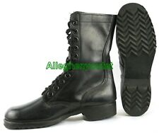 US Military Ro-Search VIETNAM JUMP COMBAT BOOTS LEATHER Black USA MADE 5-10 MINT