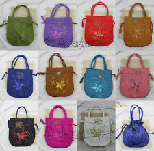Wholesale Mix Colors Silk Embroidery Flower Sequins Jewelry Gift Bags Handbags