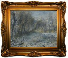 'Snow-covered Landscape 1870-75' by Pierre-Auguste Renoir Framed Painting Print