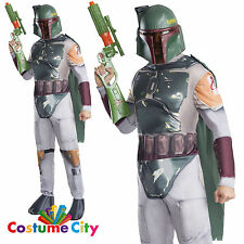 Adult Mens Official Boba Fett Star Wars Disney Fancy Dress Party Costume