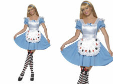 Alice In Wonderland Costume Ladies Fairy Tale Fancy Dress Outfit