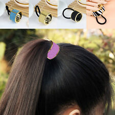 European Fashion Circle Hair PonyTail Elastic Rope Band Hair Tie Holder Ring