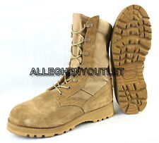 Lot US Military HOT WEATHER COMBAT BOOTS Vibram Soles Desert Tan USA Made NEW