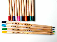 15 Personalised wooden colouring pencils, christmas, birthday gift