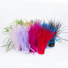 1Yd Assorted Color Ostrich Feather on Fringe Craft Millinery Fly Fishing 10-15cm