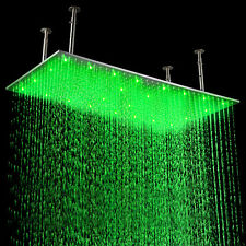 "Hot Sale Chrome 20""x40"" LED Stainless Steel Square Top Rain Ceiling Shower Head"