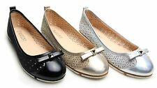Womens Ladies Ballet Laser Cut Out Dolly Flats Shoes Ballerina Pumps Size UK 3-8