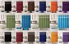1 FABRIC SHOWER CURTAIN WITH COVERED RINGS + 2 FREE MATCHING BATHROOM MATS RUGS